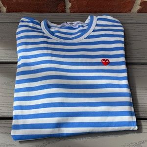 New Comme des Garcons Play Stripe Tee
